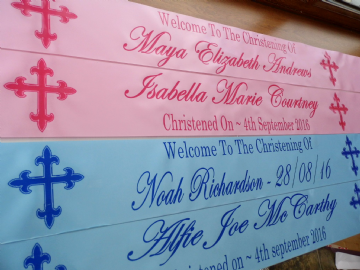 Personalised Christening Banner
